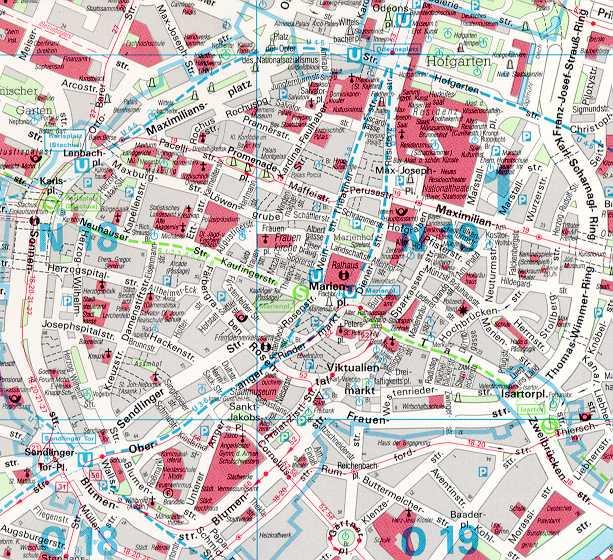 Stadtplan Muenchen